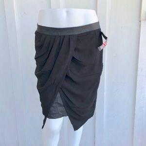 Pleather wrap skirt NWT
